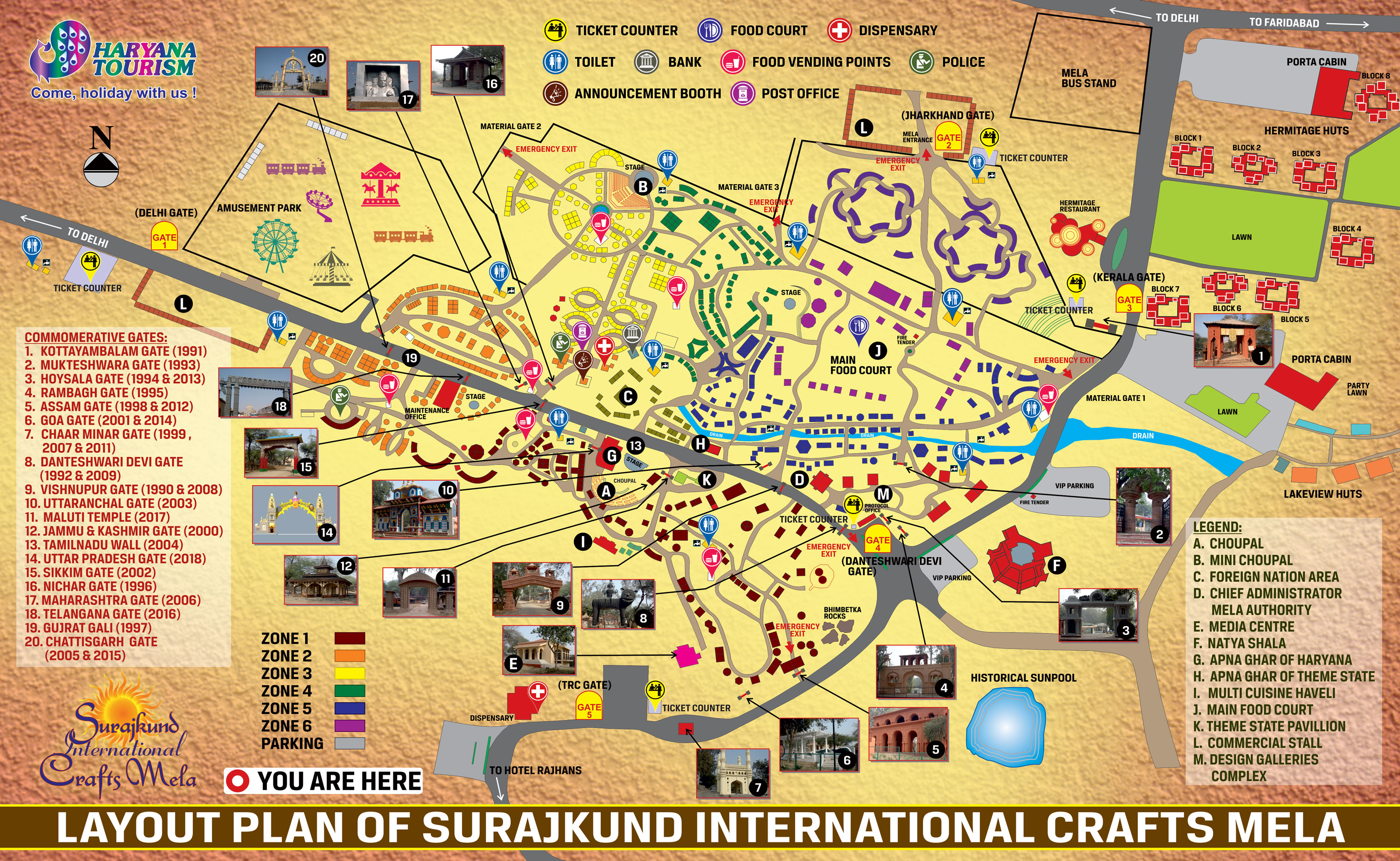Map for surajkund Mela